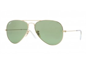 Ray-Ban 3025 AVIATOR LARGE 58-14 gold crystal green